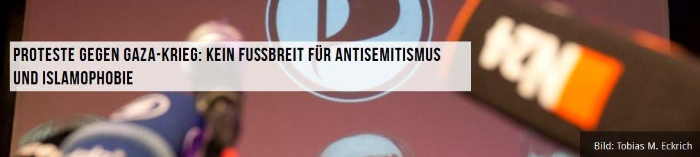 Gegen den Antisemitismus und die Islamophobie in EINEM