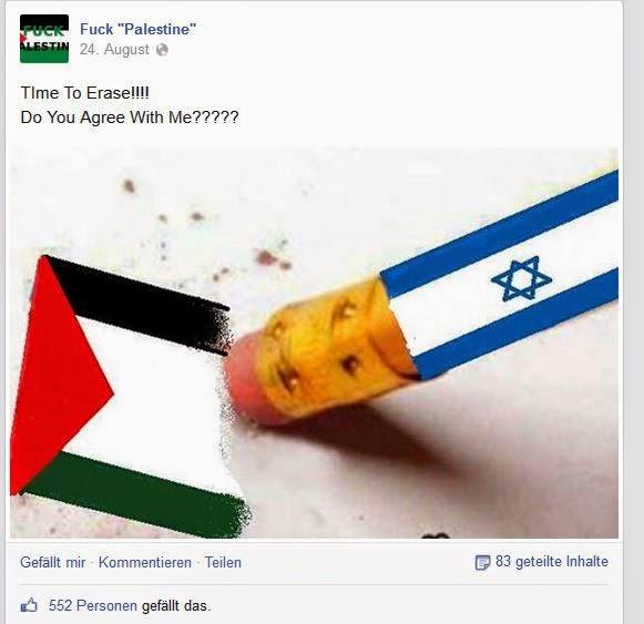 Petition gegen die Facebook- Seite Fuck Palestine – bitte unterschreiben Sie auch!!