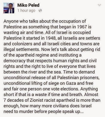 Miko Peled's Statement about Illegal Israel