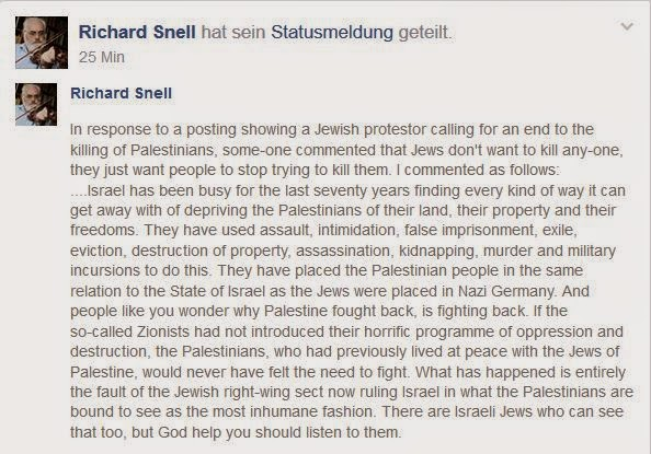 Jews against Zionism – statement by Richard Snell