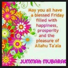 Allen Musliminnen und Muslimen einen gesegneten Freitag