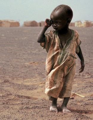 Nächtlicher Gedanke für die afrikanischen Kinder