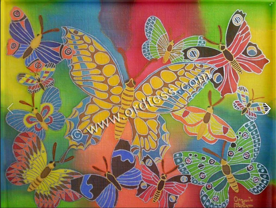 Silk Butterflies for Peace