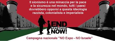 Contro l'EXPO – contro la presenza israeliana all'EXPO – Milano Settembre 2015