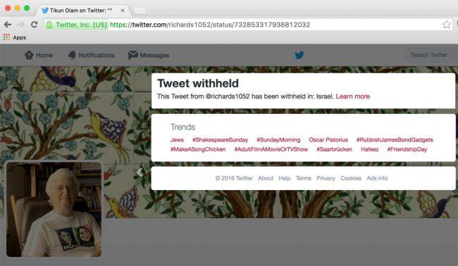 Comment Israël veut exercer sa censure dans le monde entier (et comment Twitter l'y aide)