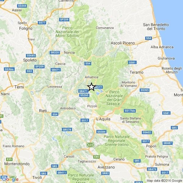 Terremoto, scossa 4.4 tra L'Aquila e Amatrice