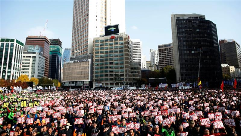 South Korea: Mass rally in Seoul demands Park's removal