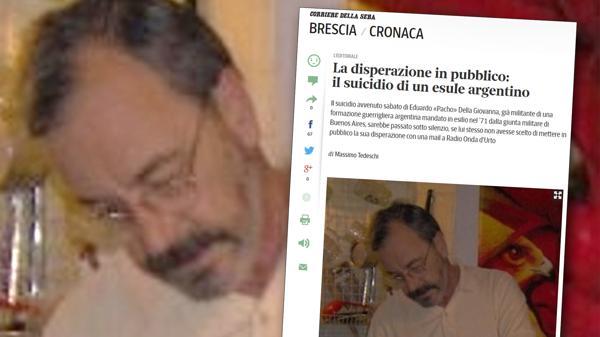 Exiliado argentino se suicida en Italia
