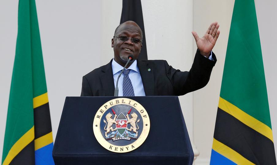 Kenyans demonstrate against Tanzania's president Magufuli