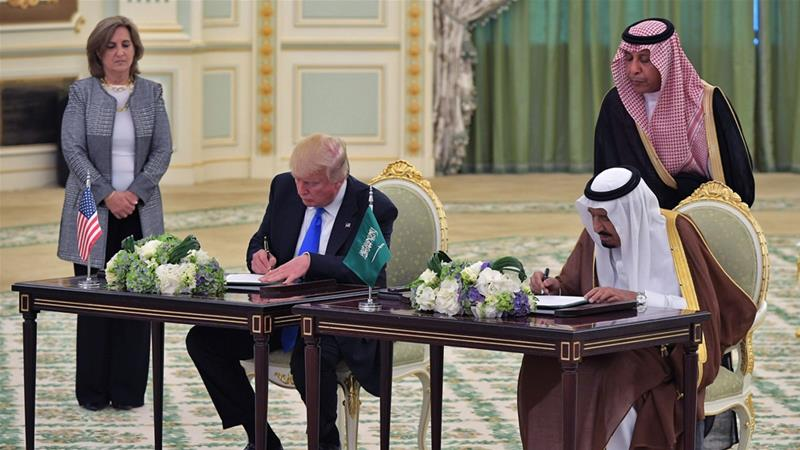 US and Saudi Arabia sign arms deals worth almost $110bn