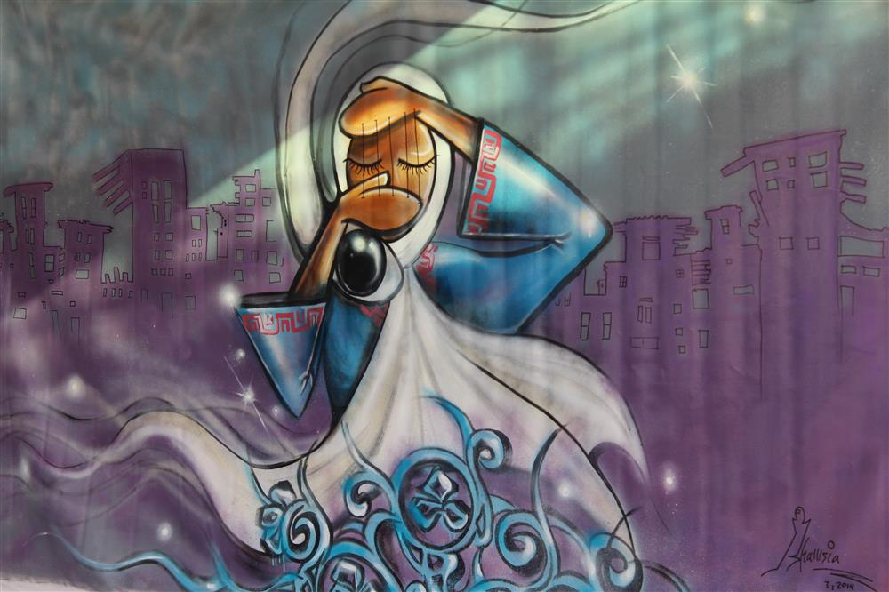 Afghanistan's first female street artist risks her life to empower women (photos)