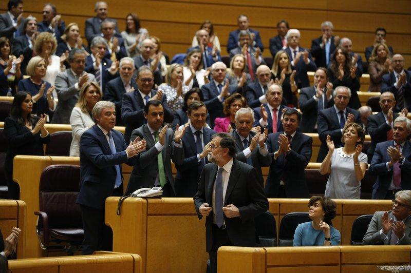 Spain leader urges Senate to grant powers in Catalan crisis