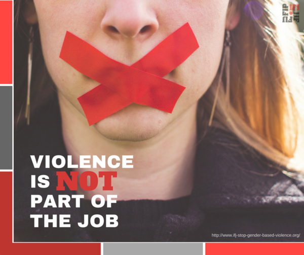 Stop violence against women journalists