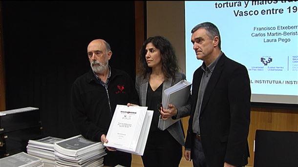 El Gobierno Vasco constata que hubo 4.113 casos de tortura entre 1960 y 2014