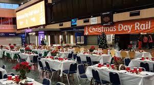 London's Euston Station Hosts Christmas Dinner For The Homeless