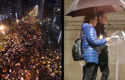 Manifestación en Bilbao pidiendo el fin de la dispersión de los presos de ETA