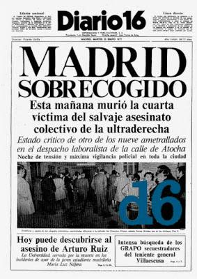 Homenaje en el 41 aniversario del atroz crimen de Atocha