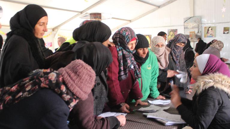 Ouverture d'un Centre pour l'emploi des réfugiés syriens dans un camp jordanien