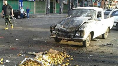 Syria war: Suicide attacks in the south kill dozens