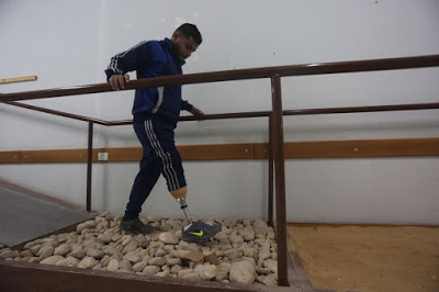 In Gaza, prosthetic limb workshop races to keep up with demand from shootings at protests