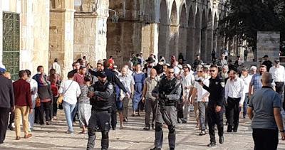 30 000 colons ont pris d'assaut Al Aqsa en 2018