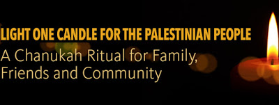 When will the mainstream Jewish community call us to 'light a candle' for the Palestinian people?