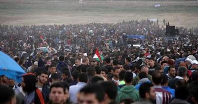 Une femme tuée et 25 palestiniens blessés par des tirs israéliens à l'est de la bande de Gaza