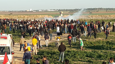 Israeli forces target paramedics at Gaza protest (days after 'NYT' publishes 'war crime' report on killing of a medic)
