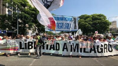 Realizan manifestación para exigir libertad de Milagro Sala en Argentina