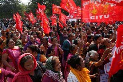 Trabajadores de India en huelga de dos días por salarios justos