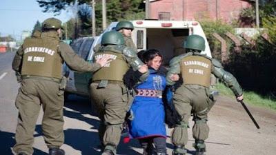 Desalojan por la fuerza a mapuches en La Araucanía, Chile