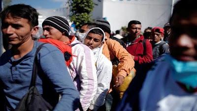 Más de mil migrantes centroamericanos llegan a Ciudad de México