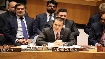 Canciller Arreaza: Venezuela sufre una agresión internacional