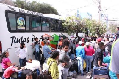 Retornan 160 venezolanos desde Ecuador tras acoso xenofóbico