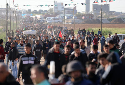 Gaza rehearses for 1 million at the fence next week, as Israel kills two more men