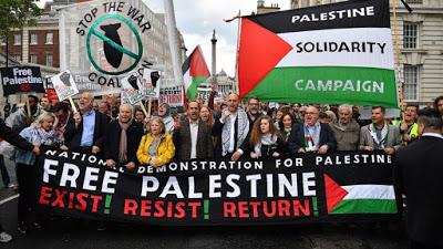 Des milliers de manifestants pour la Palestine ce samedi à Londres