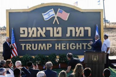 'Altos de Trump' ya tiene su placa en el Golán