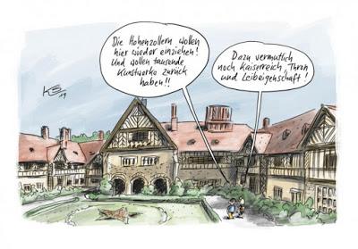 """À vot'bon cœur, m'sieurs-dames : la famille impériale allemande réclame son """"dû"""""""