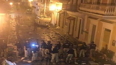 Denuncian represión policial contra manifestantes en Puerto Rico