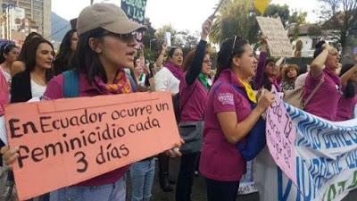 Ecuador registra más de 60 feminicidios en lo que va de año