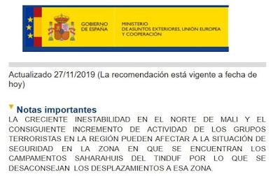 Le Front POLISARIO qualifie d' « infâme » la mise en garde du ministère espagnol des Affaires étrangères contre une possible attaque « imminente » contre des Espagnols dans la zone des campements sahraouis de Tindouf