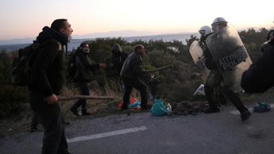 Clashes break out on Greek island of Lesbos against migrant camp