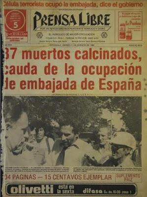 Guatemala: quarant'anni dopo il massacro dell'ambasciata di Spagna, quello che resta da fare