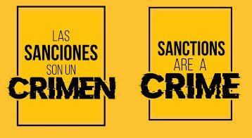 Las sanciones son un crimen: Ante la pandemia del Covid-19, exigimos el cese inmediato del bloqueo económico contra el pueblo de Venezuela
