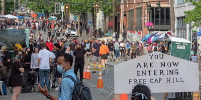 Seattle activists create Autonomous Zone near abandoned police precinct after days of State violence