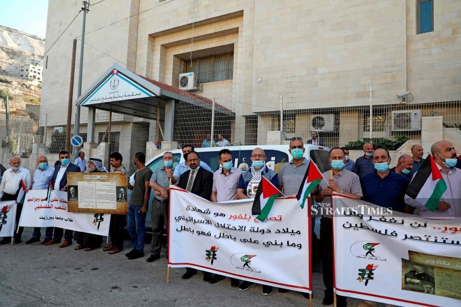 Palästinenser verklagen Großbritannien wegen Balfour-Erklärung 1917, die zur Schaffung Israels führte