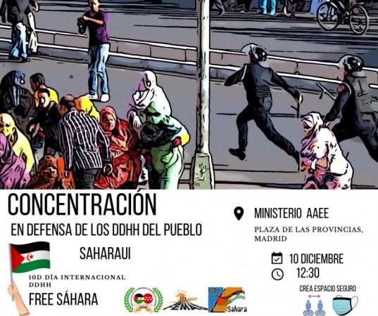10D: Concentración de apoyo al pueblo saharaui en Madrid