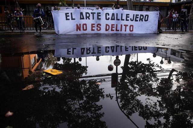 Straßenkünstler von Polizist erschossen: Massive Proteste in Chile